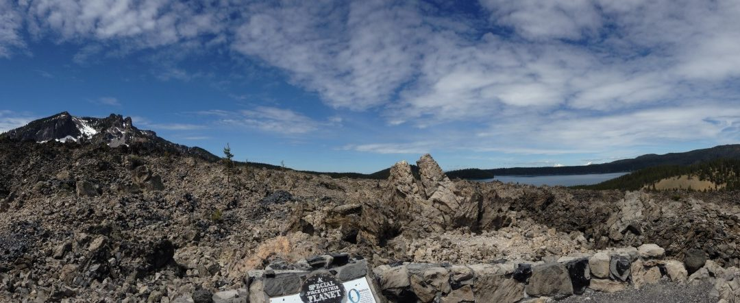The Big Obsidian Flow in Newberry National Volcanic Monument near Sunriver, Oregon.