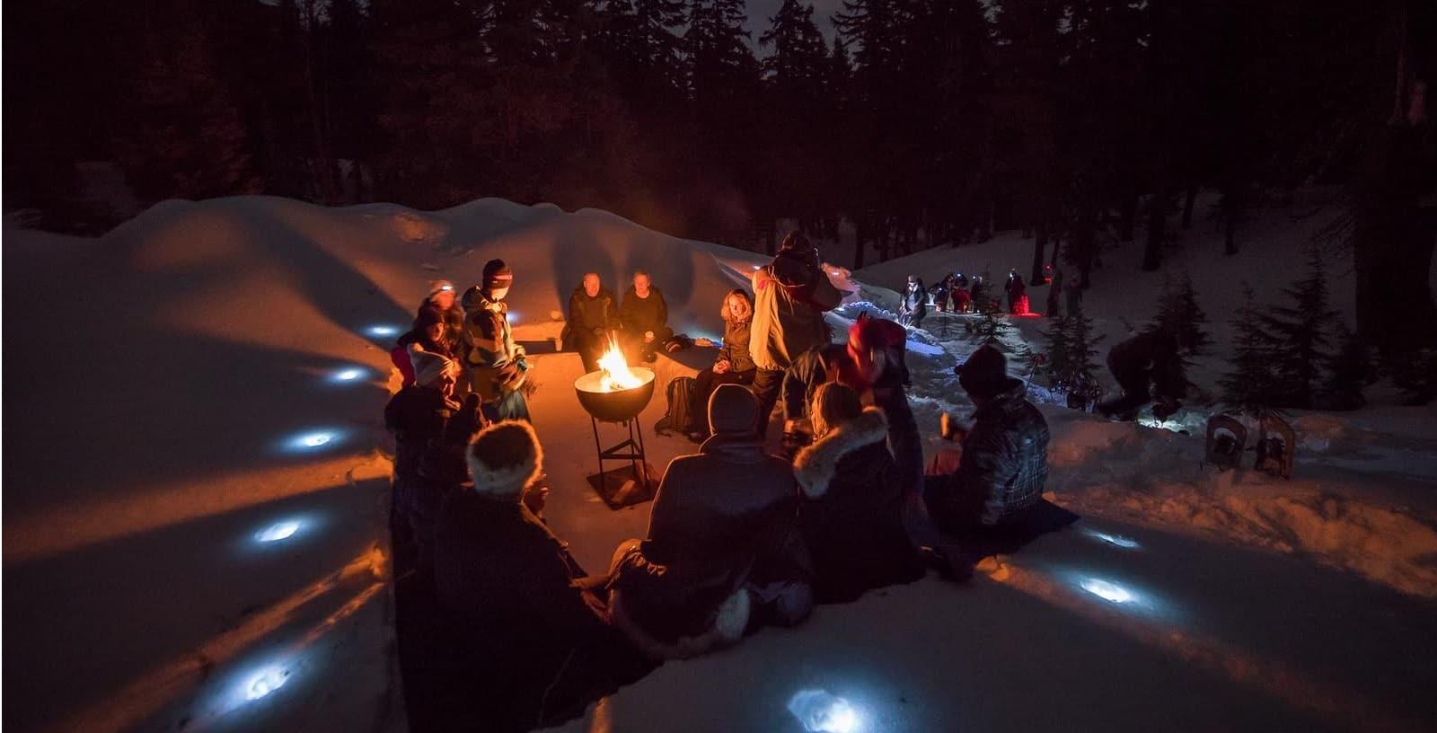 Bonfire on the Snow Snowshoe Tours