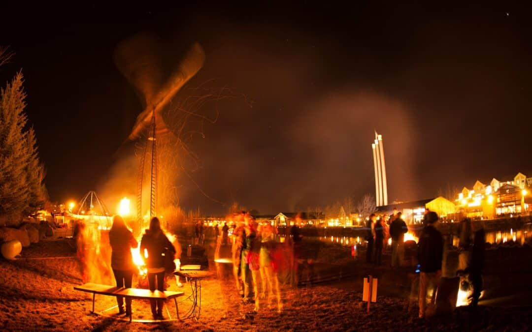 Winterfest in the Old Mill District in Bend, Oregon